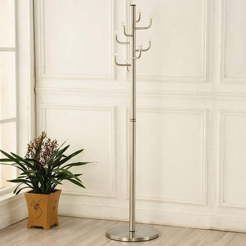 Coat Rack Crystal Stainless Steel Clothes Rack Floor Hanger Metal Simple Modern Fashion Hallway Durable