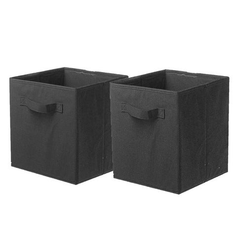 ShellKingdom Storage Bins, Foldable Fabric Storage Cubes and Cloth Storage Organizer Drawer for Closet and Toys Storage,2 Pack(Black)