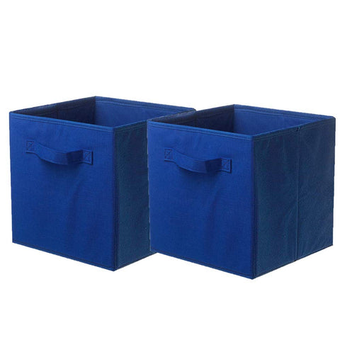 ShellKingdom Storage Bins, Foldable Fabric Storage Cubes and Cloth Storage Organizer Drawer for Closet and Toys Storage,2 Pack(Dark Blue)
