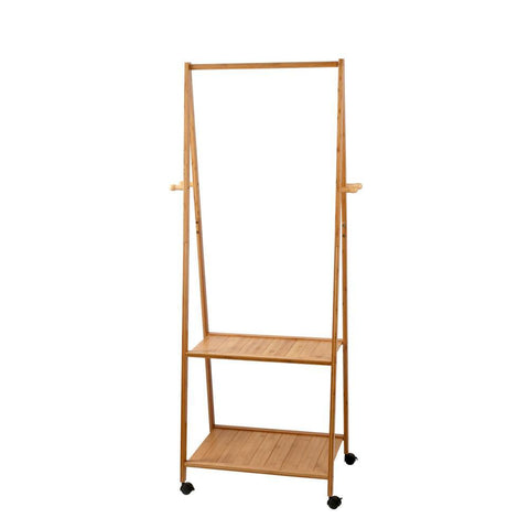 Artiss Bamboo Hanger Stand Wooden Clothes Rack Display Shelf