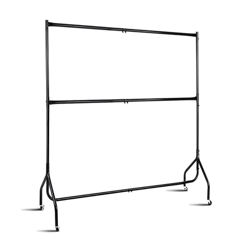 6Ft Double Metal Garment Display Rail - Black