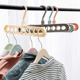 Multi-Functional Nine-Hole Hanger Creative Rotate Clothes Rack Storage Clothes Rack