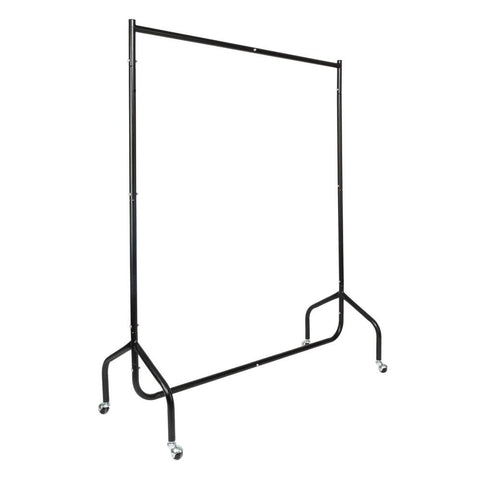 4ft 2 Sections Moveable Portable Clothes Rack Black
