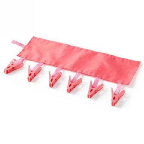 1PC Portable Foldable Clothes Rack Socks Drying Cloth Hanger Rack Clothespin Business Travel Folding Cloth Hanger Clips