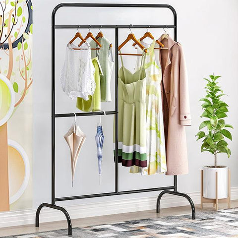 Creative fashion Clothes rack Outdoor balcony storage Shelf Iron art hanger Single rod Drying rack hangers furniture