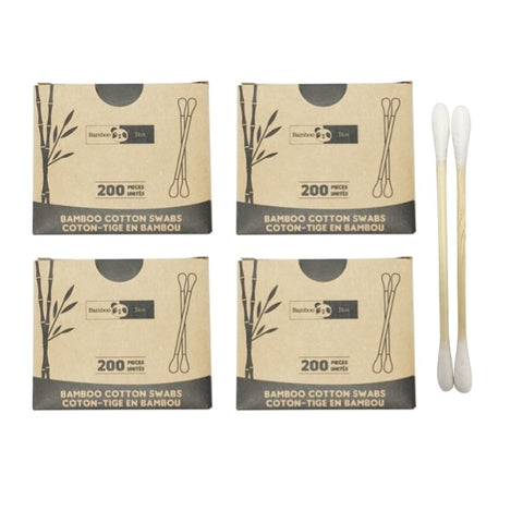 4 Bamboo Cotton Swab packs