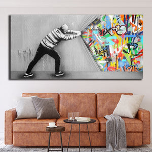 Toile Pop Art Graffiti Mural