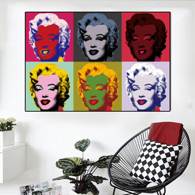 Toile Marilyn Monroe Andy Warhol Pop Art