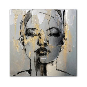 Toile Art Abstrait Figure De Fille