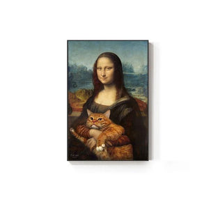 Toile Mona Lisa & Chat