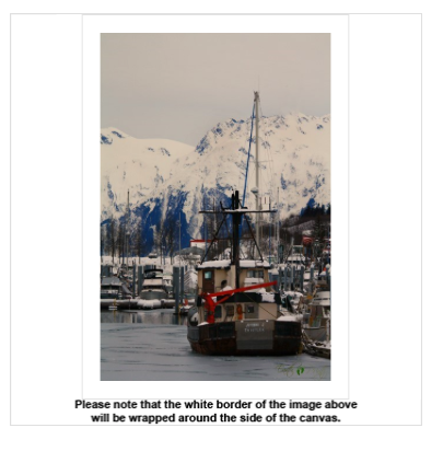 Winter Harbor Canvas - Earth Printz