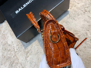 Balenciaga Nano City Croco Bag