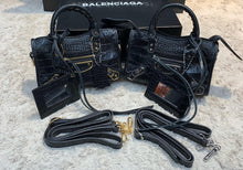 Load image into Gallery viewer, Balenciaga Nano City Croco Bag