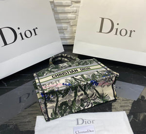 Christian Dior Book Tote Oblique Bag Small