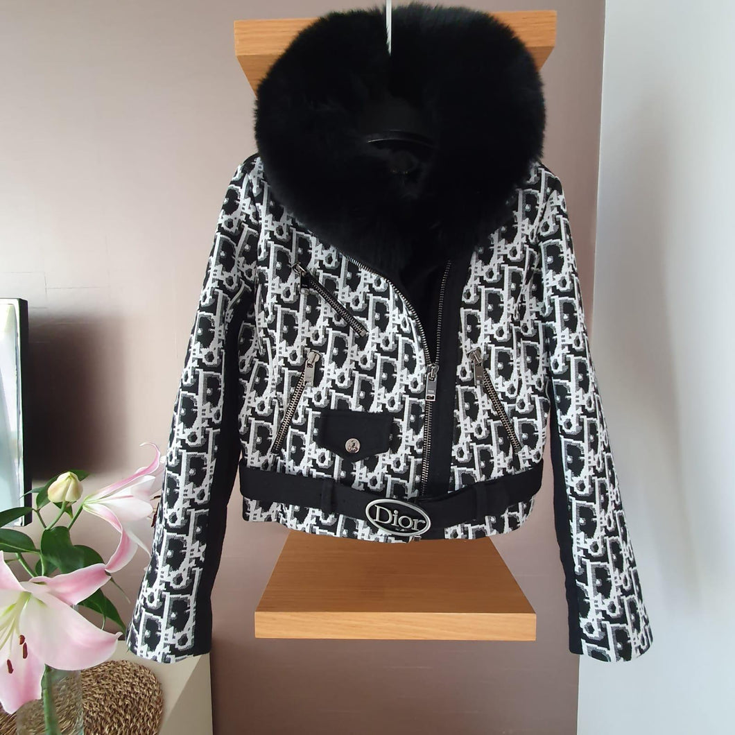 Christian Dior Jacket Fur Collarette