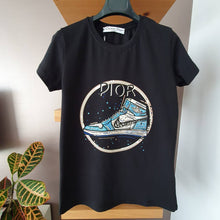 Load image into Gallery viewer, Christian Dior Nike Shoes Printed T-Shirt