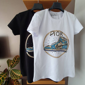 Christian Dior Nike Shoes Printed T-Shirt