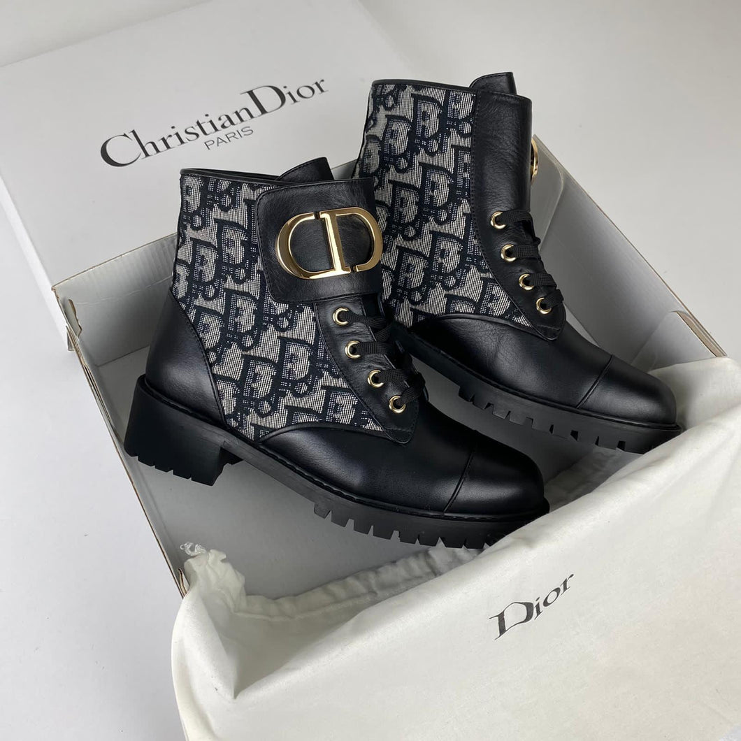 Christian Dior Oblique CD Band Ankle Boots