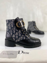 Load image into Gallery viewer, Christian Dior Oblique CD Band Ankle Boots