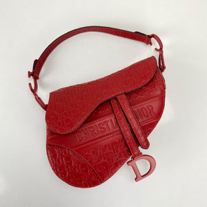 Christian Dior Saddle Embossed Calfskin Bag