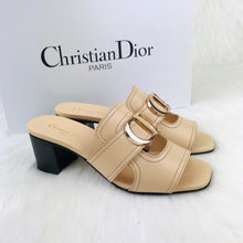 Load image into Gallery viewer, Christian Dior Woman's Heeled Slippers