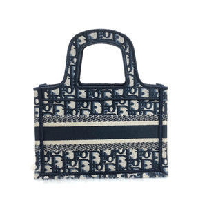 Christian Dior Oblique Mini Embroided Tote Bag