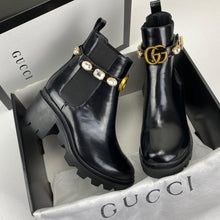 Load image into Gallery viewer, Gucci Chelsea Boot With Crystal Belt