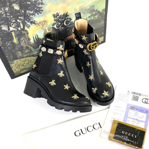 Gucci Chelsea Boot With Crystal Belt