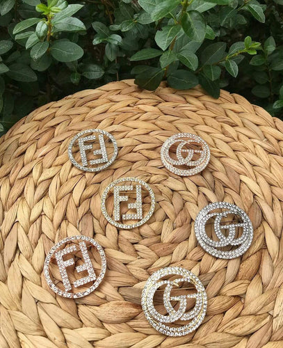 Fendi & Gucci Brooch