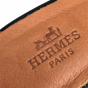 Hermes Oran Heeled Sandals Croco