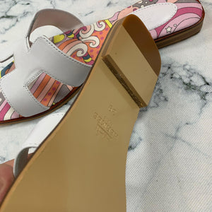 Hermes Painted Oran Sandals