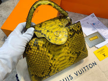 Load image into Gallery viewer, Louis Vuitton Capucines Python Medium