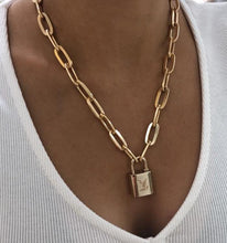 Load image into Gallery viewer, Louis Vuitton Chain Lock Necklace