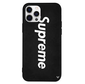 Louis Vuitton Supreme iPhone 12 Pro Max Phone Case Black