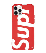 Load image into Gallery viewer, Louis Vuitton Supreme iPhone 12 Pro Max Phone Case Red