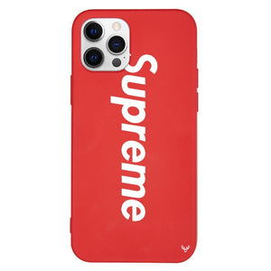 Louis Vuitton Supreme iPhone 12 Pro Max Phone Case Red