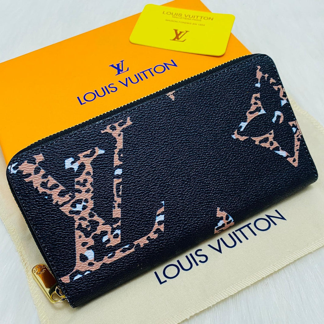 Louis Vuitton Zippy Oversized Logo Wallet