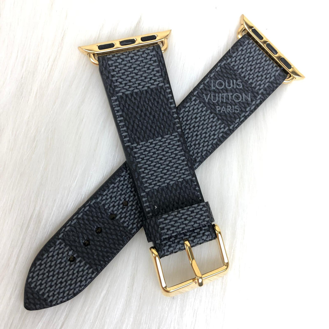 Louis Vuitton Graphite Damier Monogram Apple IWatch Strap