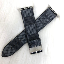 Load image into Gallery viewer, Louis Vuitton Graphite Damier Monogram Apple IWatch Strap