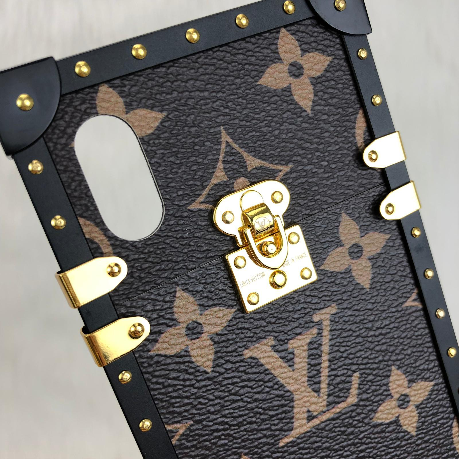new products 552ae e9f48 Louis Vuitton EYE - TRUNK İPHONE X phone case – World Leather Design