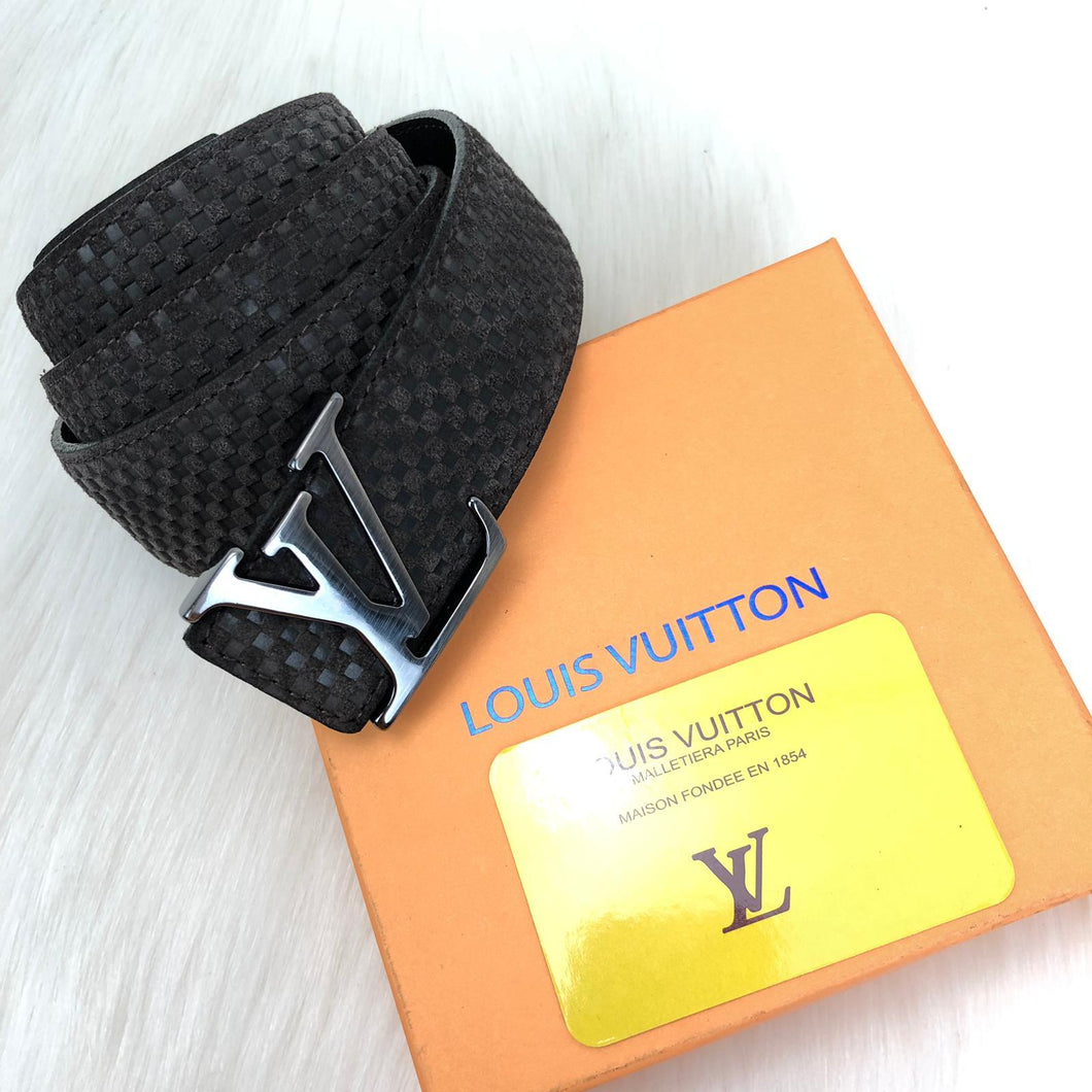 Louis Vuitton Initiales Genuine Suede Leather Belt