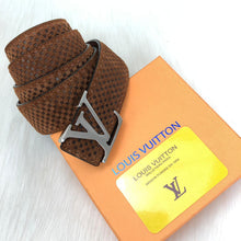 Load image into Gallery viewer, Louis Vuitton Initiales Genuine Suede Leather Belt