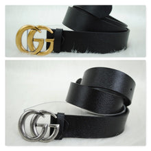 Load image into Gallery viewer, Gucci GG Buckle Leather Belt