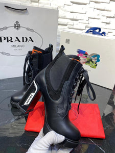 Prada Chunky Lace up Boot