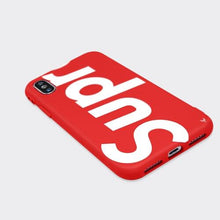 Load image into Gallery viewer, Louis Vuitton Supreme iPhone X Phone Case Red