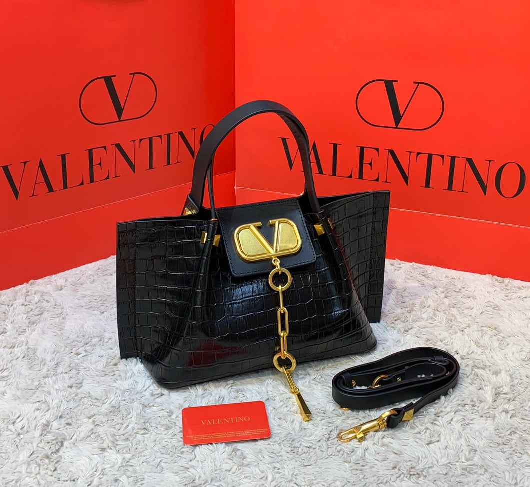 Valentino Small Vlogo Escape Shopper