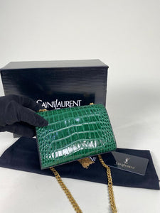 YSL Kate Bag Small Croco