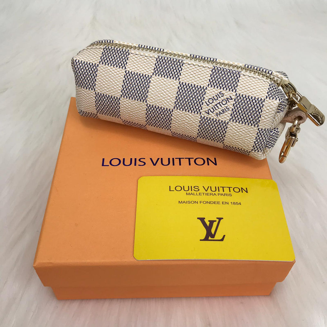 Louis Vuitton Dramier Graphite Azul Key Pouch & Coin Purse