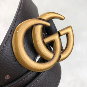 GG Double Buckle Leather Belt