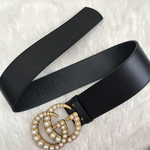 Gucci GG Buckle Pearl Double